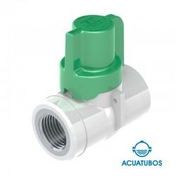 REGISTRO ANTIFRAUDE 1/2 H DZR X 1/2 H DZR CORTO EN PVC (3162)